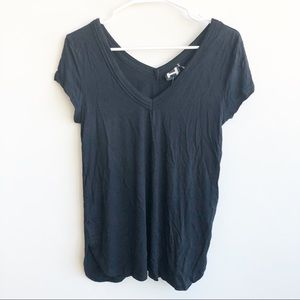 (NWT) H By Bordeaux Solid Double V-Neck T-Shirt
